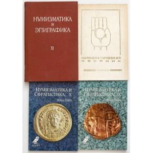 Zestaw - rosyjskojęzyczne książki numizmatyczne (4szt)