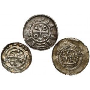 Denary krzyżowe (3szt) CNP II, VI, VII - z kapliczką, krzyż prosty i z pastorałem