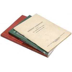 Notowania aukcyjne i reprint Tyszkiewicza - zestaw (3szt)