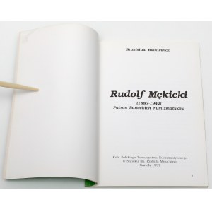 Rudolf Mękicki (1887-1942) - patron sanockich numizmatyków