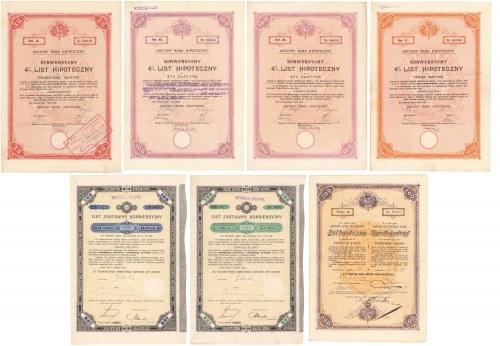 Lwów, TKZ, Listy zastawne i Akc. Bank Hipoteczny, Listy hipoteczne (7szt)