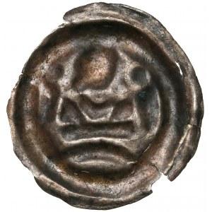Brakteat, Książe na murach - Piastowie, Małopolska (?) - II połowa XIII wieku