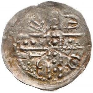 Śląsk, Bolesław I Wysoki (1163–1201), Denar brakteatowy, Wrocław - BOLE / S