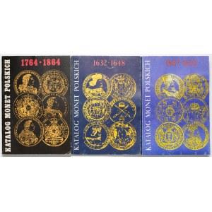 Katalog Monet Polskich - lata 1587-1648 i 1764-1864 (3szt)