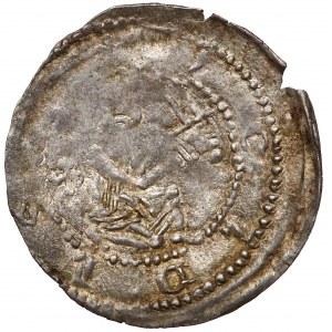 Wielkopolska, Przemysł I i Bolesław Pobożny, Denar brakteatowy, Gniezno (1239-1249)