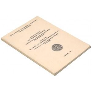 Pieniądz starożytny - stan i perspektywy polskich badań. Materiały z konferencji 1982