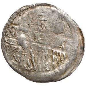 Śląsk, Bolesław I Wysoki (1163–1201), Denar brakteatowy, Wrocław - BOLI