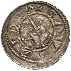 Władysław II Wygnaniec, Denar - Walka z lwem - piękny