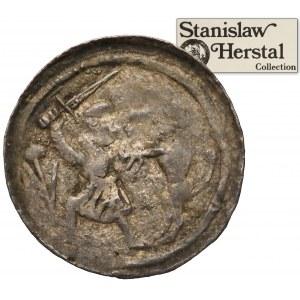 Władysław II Wygnaniec, Denar - Walka z lwem - ex. Herstal