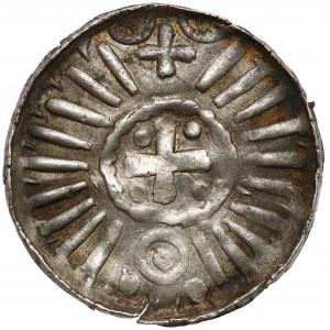 Denar krzyżowy CNP I - duży, ze świątynią