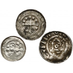Denary krzyżowe (3szt) CNP II, V, VII - z kapliczką, krzyż perełkowy i z pastorałem