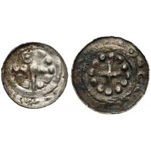 Denary krzyżowe (2szt) CNP V i VII - krzyż perełkowy i z pastorałem