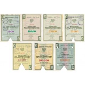 NBP, Depozytowe Bony Oszczędnościowe - zestaw (7szt)