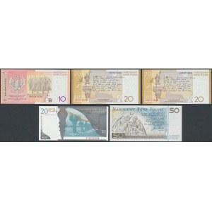 Banknoty kolekcjonerskie - zestaw (5szt)