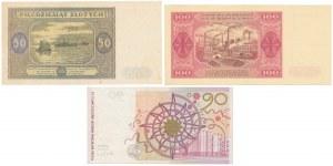 Zestaw banknotów z lat 1946-48 i PWPW Penderecki (3szt)