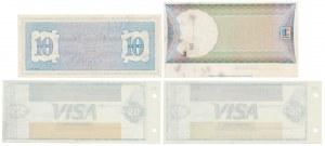 USA, Czeki bankowe - zestaw (4szt)