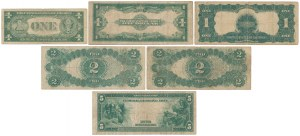 Large and small size dollars 1899-1935 - set (6)