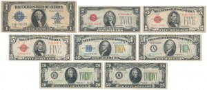 Set od mostly small size dollars (8)