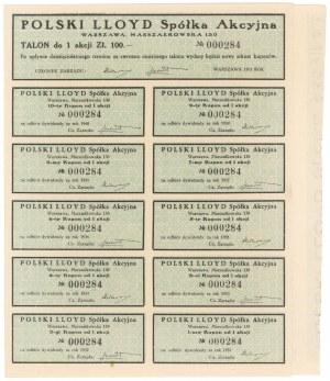 Polski Lloyd, Em.1-4, 100 zł 1931