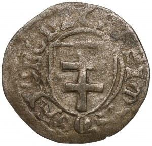 Kazimierz IV Jagiellończyk, Szeląg Toruń - 2x KASIMIR - półksieżyce - rzadki