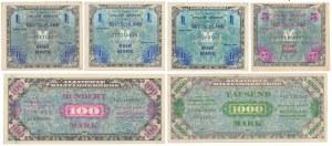 Niemcy, Okupacja aliancka, 1 - 1.000 mk 1944 (6szt)