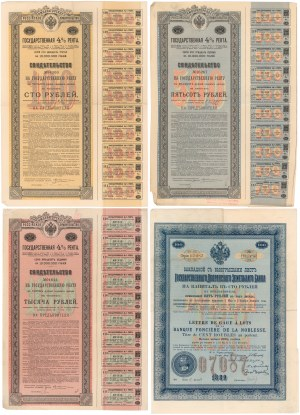 Rosja - zestaw akcji i obligacji (4szt)