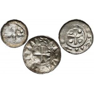 Denary krzyżowe (3szt) CNP VI i VII - krzyż prosty i z pastorałem