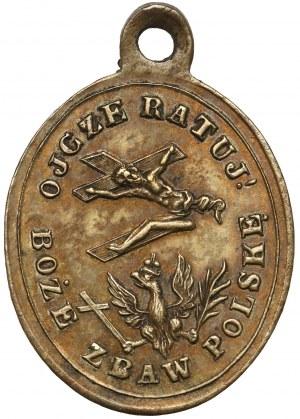 Medalik pamiątkowy masakr warszawskich 1861 r.