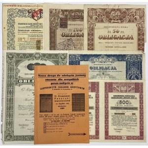 Zestaw obligacji II RP + zamówienia (7szt)