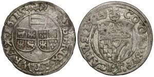 Śląsk, 3 krajcary 1615, Nysa i Oleśnica (2szt)