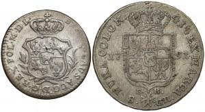 Poniatowski, Półzłotek 1766 i Dwuzłotówka 1791 (2szt)