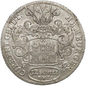 Hamburg-Stadt, z.Z. Karl VI., 32 Schilling 1726 IHL