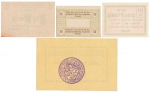 Śląsk i Wielkopolska - zestaw notgeldów (4szt)