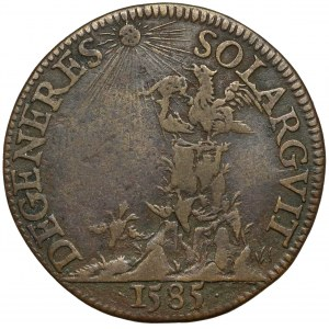 Francja, Henryk Walezy, Żeton 1585 - DEGENERES SOLARGVIT