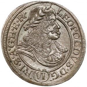 Śląsk, Leopold I, 6 krajcarów 1673 SHS, Wrocław
