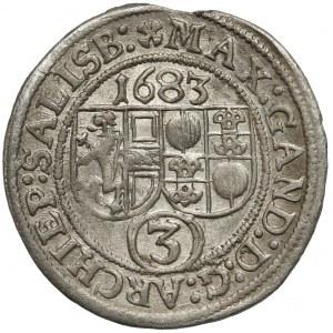 Austria, Salzburg, Max Gandolf von Kuenburg, 3 krajcary 1683