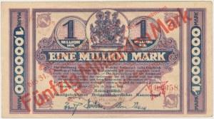 Hermsdorf (Sobieszów), 1 mln mk 1923 PRZEDRUK na 50 mld mk 1923