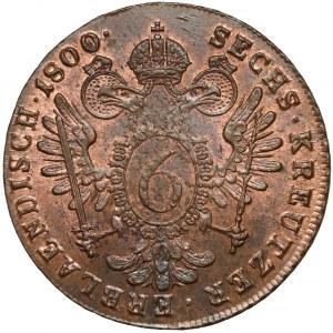 Austria, Franciszek II, 6 krajcarów 1800-B, Kremnica