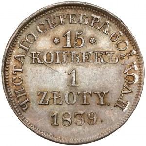 15 kopiejek = 1 złoty 1839 MW, Warszawa - PIĘKNA