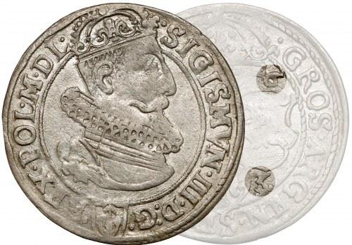 Zygmunt III Waza, Szóstak Kraków 1623 - data rozstrzelona - rzadki i piękny
