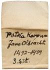 Jan Olbracht, Półgrosze Kraków - Poraj i pierścień (3szt)