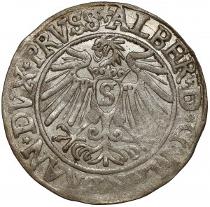 Prusy, Albrecht Hohenzollern, Grosz Królewiec 1538 - piękne lustro