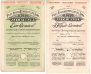 Węgry, Pesti Magyar Kereskedelmi Bank - 1.000 i 2.000 kr (2szt)