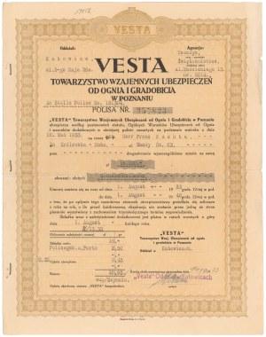VESTA Tow. Wzajemnych Ubezpieczeń od Ognia i Gradobicia, 16.000 zł