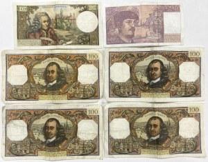 Francja, zestaw banknotów (6szt)