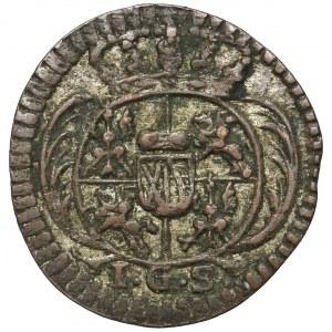 August II Mocny, Halerz 1728 IGS, Drezno - ex. Horn