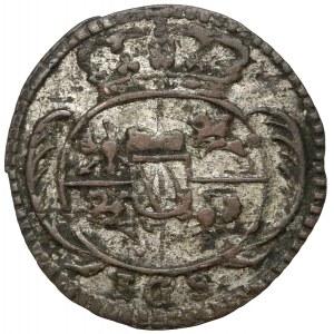 August II Mocny, Halerz 1733 IGS, Drezno - ex. Horn