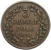 Powstanie Listopadowe, 3 grosze 1831- łapy ZGIĘTE - rzadkość