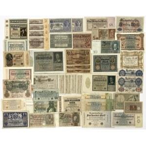 Niemcy, duży zestaw banknotów (48szt)