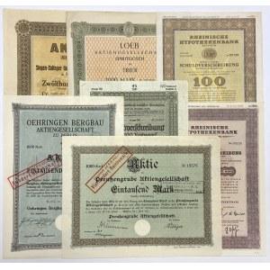 Niemcy - zestaw papierów wartościowych (7szt)